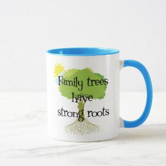 Los árboles de familia tienen raíces fuertes taza