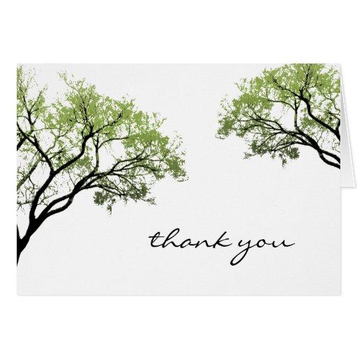 Los árboles de la primavera le agradecen cardar tarjeta de felicitación