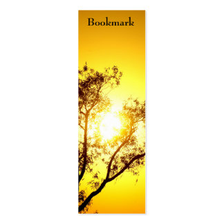 """Los árboles de la puesta del sol """"marcan una direc plantillas de tarjeta de negocio"""