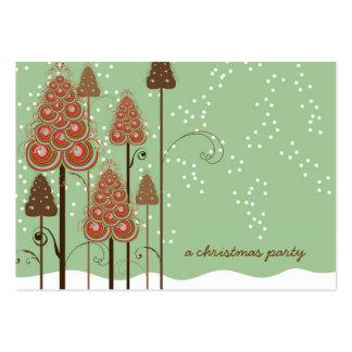 Los árboles de navidad caprichosos mini le invitan plantilla de tarjeta personal