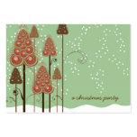Los árboles de navidad caprichosos mini le tarjetas de visita grandes