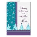 Los árboles de navidad miman a la tarjeta de las F