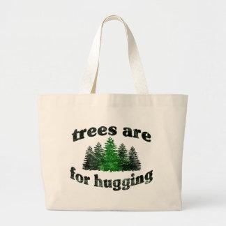 Los árboles del vintage están para abrazar bolsa de tela grande