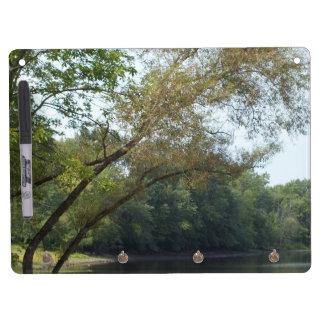 Los árboles en la ensenada secan al tablero del bo pizarras blancas de calidad