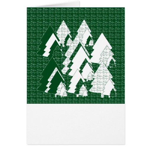Los árboles estilizados modificaron la tarjeta de