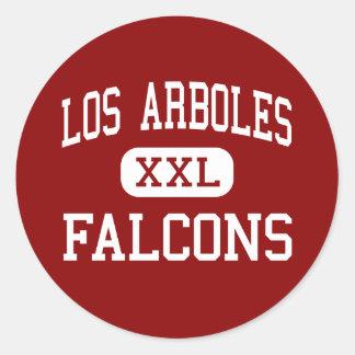 Los Arboles - Falcons - Middle - Marina California Classic Round Sticker