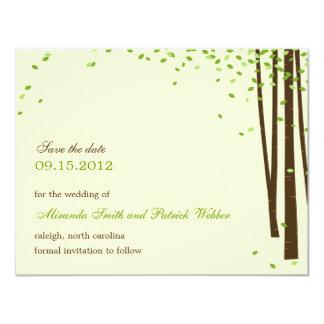 Los árboles forestales ahorran la invitación de la invitación 10,8 x 13,9 cm