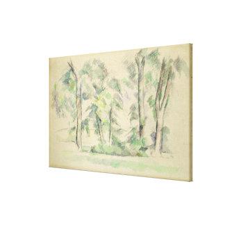 Los árboles grandes en Jas de Bouffan, c.1885-87 ( Impresiones De Lienzo