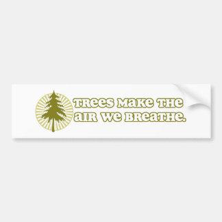 Los árboles hacen a la pegatina para el parachoque etiqueta de parachoque