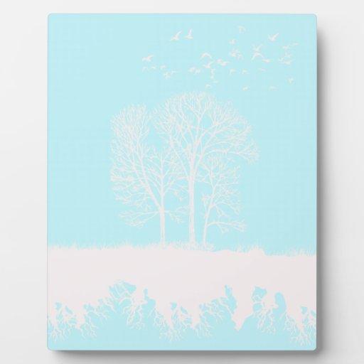 Los árboles placas con foto