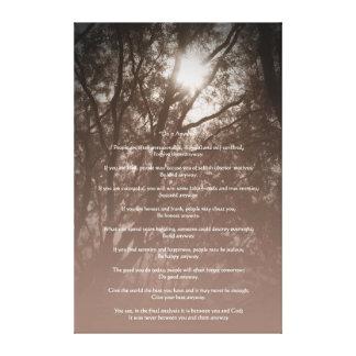 """Los árboles que brillan intensamente """"lo hacen de  impresion de lienzo"""