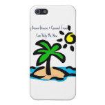 Los árboles solamente del océano de la brisa y de  iPhone 5 cárcasa