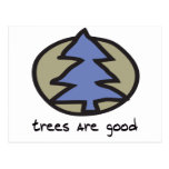 Los árboles son buen diseño postal