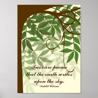 Los árboles son poster de la cita de los poemas