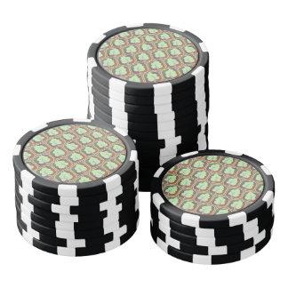 Los árboles tejaron el modelo juego de fichas de póquer