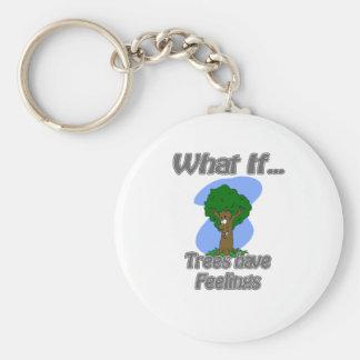 los árboles tienen sensaciones llavero redondo tipo pin