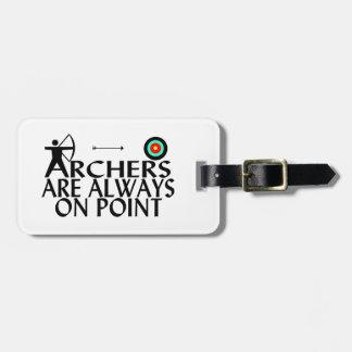 Los Archers están siempre en punto Etiquetas Para Equipaje