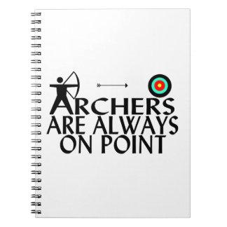 Los Archers están siempre en punto Libro De Apuntes Con Espiral