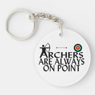 Los Archers están siempre en punto Llavero Redondo Acrílico A Doble Cara