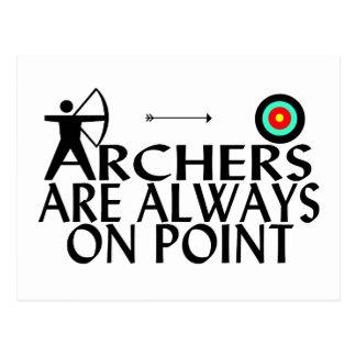 Los Archers están siempre en punto Tarjetas Postales