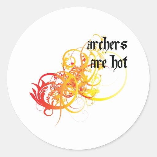 Los Archers son calientes Pegatina Redonda