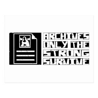 Los archivos sobreviven tarjetas postales