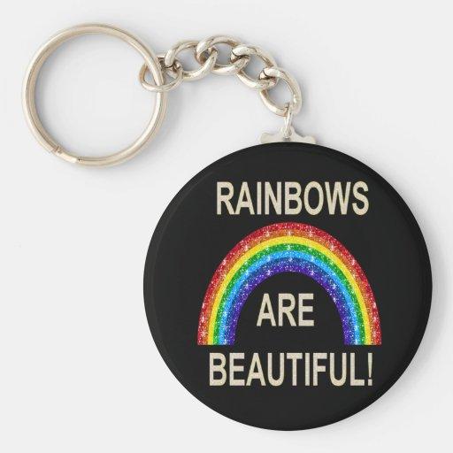 Los arco iris del llavero son hermosos