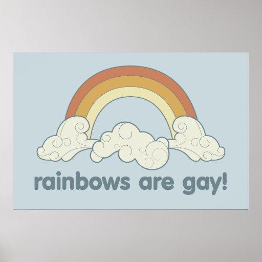 ¡Los arco iris son gay! Poster