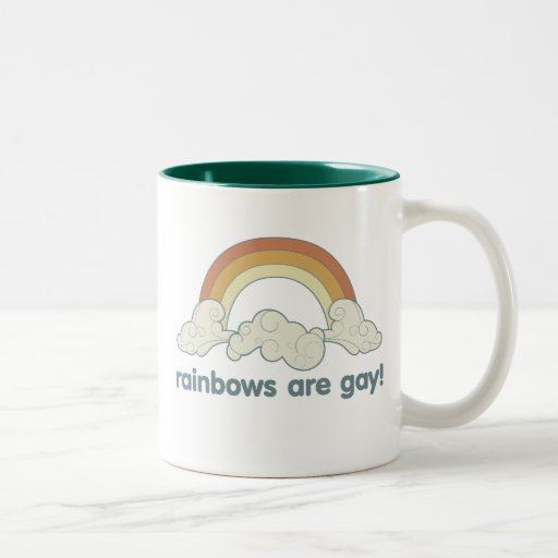 ¡Los arco iris son gay! Taza Dos Tonos