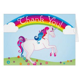 Los arco iris y el unicornio le agradecen las nota felicitación