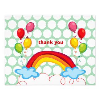 Los arco iris y los niños de los globos le agradec