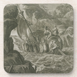 Los argonautas pasan el Symplegades (el grabado) Posavasos De Bebidas