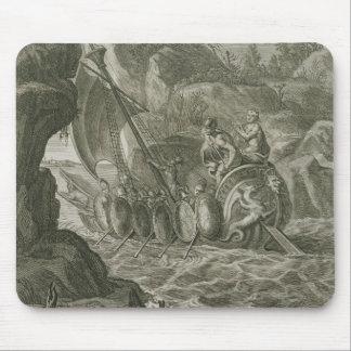 Los argonautas pasan el Symplegades (el grabado) Tapete De Raton