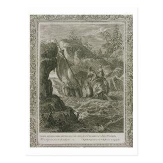 Los argonautas pasan el Symplegades (el grabado) Postal