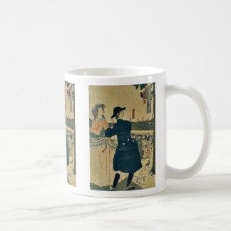 Los argumentos de la capilla de Myojin por Utagawa Taza De Café