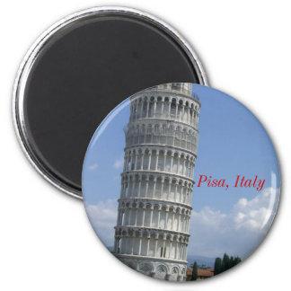 los argumentos inclinan el twr Pisa, Pisa, Italia Imán Redondo 5 Cm