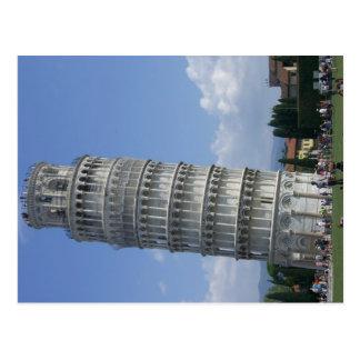 los argumentos inclinan el twr Pisa Tarjetas Postales
