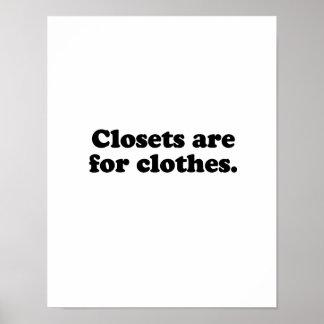 Los armarios están para clothes.png póster