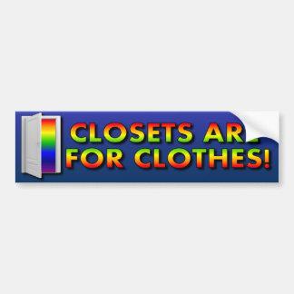 Los armarios están para la ropa pegatina de parachoque