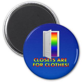 Los armarios están para la ropa imán redondo 5 cm