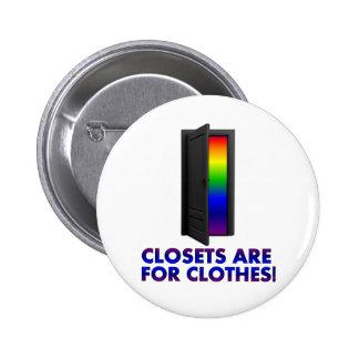 Los armarios están para la ropa pin redondo de 2 pulgadas