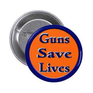 Los armas ahorran vidas pin redondo de 2 pulgadas