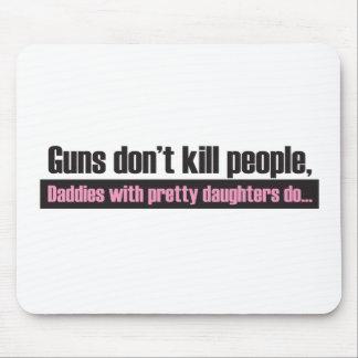 Los armas no matan a gente alfombrillas de ratones