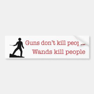 Los armas no matan a gente. Gente de la matanza de Etiqueta De Parachoque