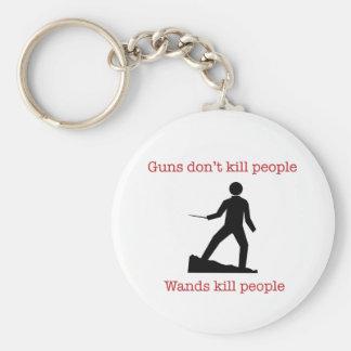 Los armas no matan a gente. Gente de la matanza de Llavero Redondo Tipo Pin