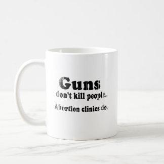 Los armas no matan a gente. Las clínicas del abort Tazas