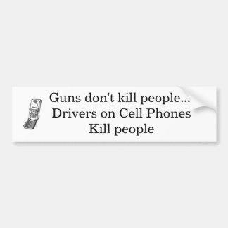 Los armas no matan a gente pegatina para auto