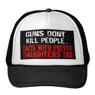 Los armas no matan a la gente, papá divertido/hija gorros