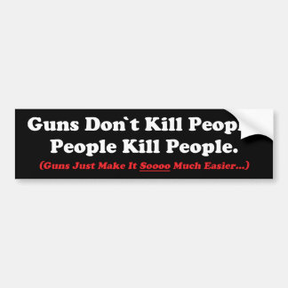 Los armas no matan a la pegatina para el etiqueta de parachoque