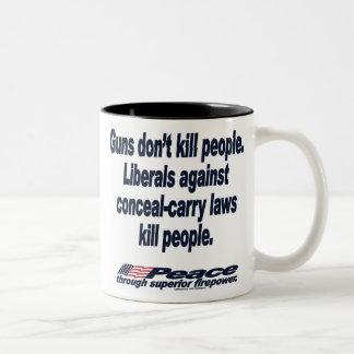 Los armas no matan a la taza de la gente